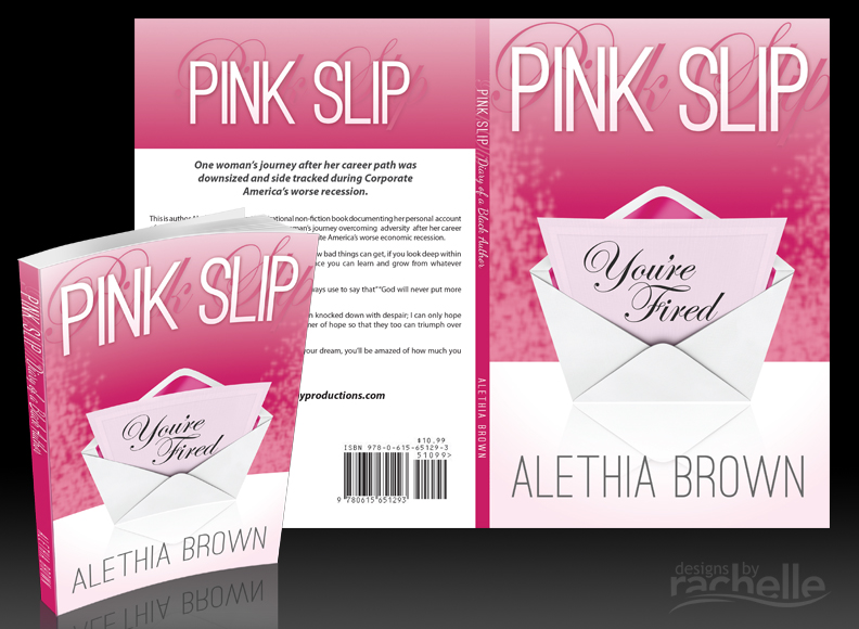 Paperback covers pink slip custom full wrap book cover design solutioingenieria Gallery