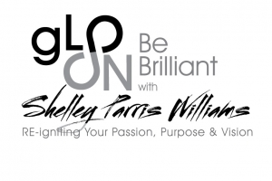 gLO ON Be Brilliant with Shelley Parris Williams Logo Design