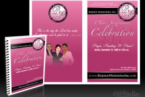 Rejoice Ministries Program Cover Design